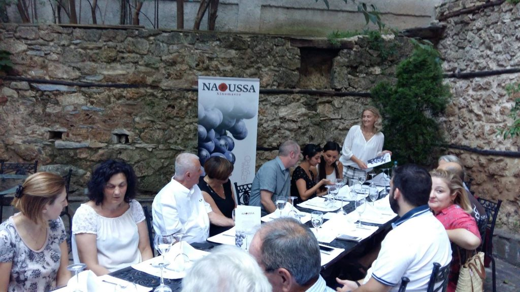Trade visitors fron the USA and Australia visit Naoussa